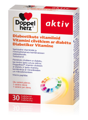 Doppelherz Vitamīni cilvēkiem ar diabētu