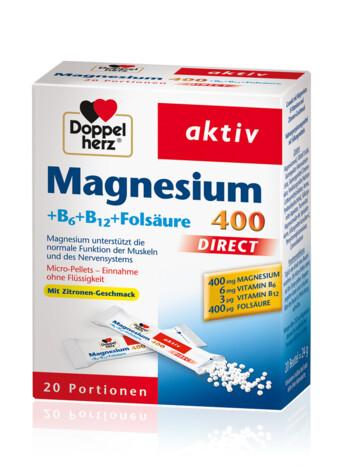 Doppelherz Magnesium 400 + B6 + B12 + Folsäure